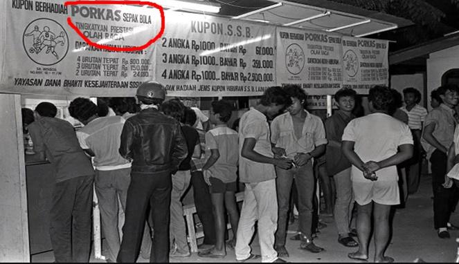 Sejarah Perjudian Porkas di Indonesia